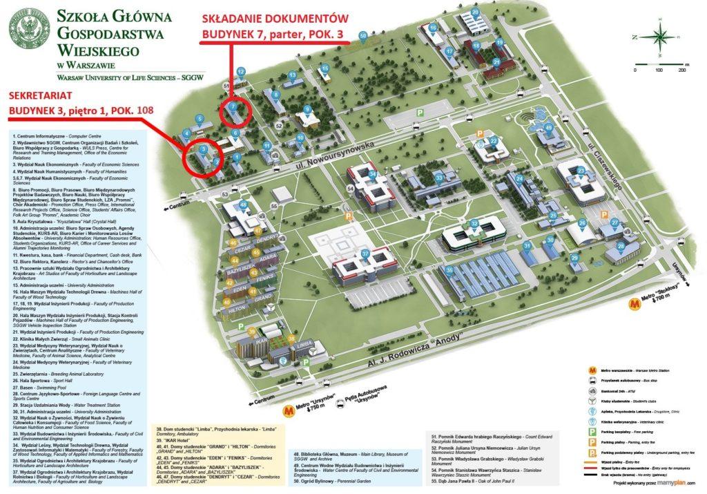 mapa_sggw_oznaczone - aktualizacja